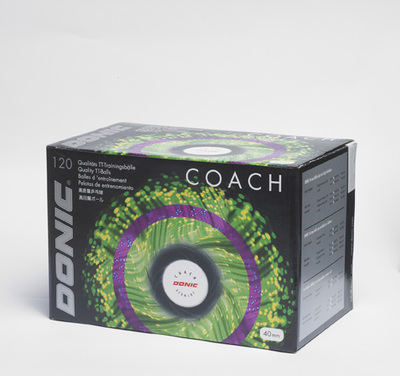 Bolas 40+ Coach (plástico) da Donic na Patacho Ténis de Mesa
