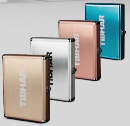 Estojo Aluminium Exclusive da Tibhar na Patacho Ténis de Mesa