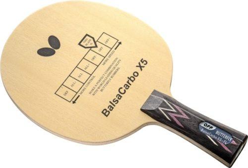 Balsa Carbon X5 da Butterfly na Patacho Ténis de Mesa